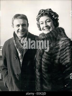 Jan. 01, 1965 - Russian Film Stars Arrive In London: Two film stars from Russia arrived at London Airport this morning. - Stock Photo