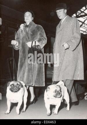 The Duke and Duchess at Saint-Lazare Station - Stock Photo