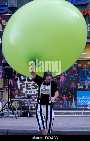 Dub Fest 2014 international street and comedy festival at Al Ghurair in Dubai United Arab Emirates - Stock Photo