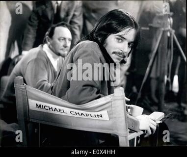 Apr. 04, 1965 - Michael Chaplin Has a Screen Test... He Gets His Own ''Star Chair''... Eighteen year old Michael - Stock Photo