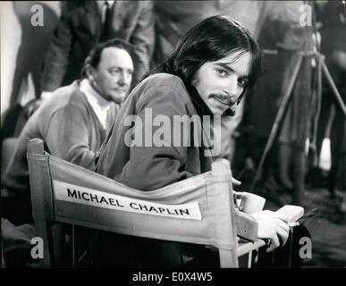 Apr. 04, 1965 - Michael Chaplin has a screen test. He gets his own ''star'' chair.: Eighteen year old Micheal Chaplin - Stock Photo