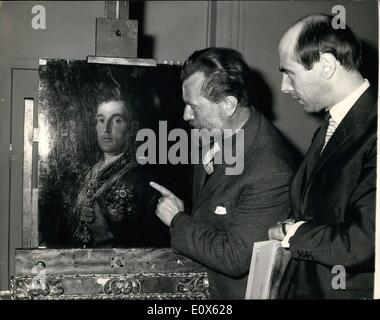 May 05, 1965 - Goya's Portrait Of The Duke Of Wellington Is Back At The National Gallery. Goya's Portrait of the - Stock Photo