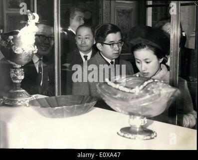 Oct. 18, 1965 - Prince Hitachi is the second son of Emperor Hirohito. He and his wife visited the ''French Treasures'' - Stock Photo