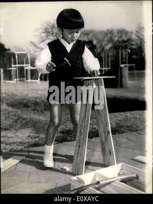 Feb. 25, 1966 - Japanese Prince 6th Birthday; Little Prince Hiro, who will one day become the Emperor of Japan, - Stock Photo