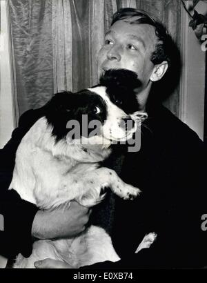 Mar. 03, 1966 - The World Cup is found. A mongrel dog named Pickles last night found the World Cup. whilst sniffing - Stock Photo