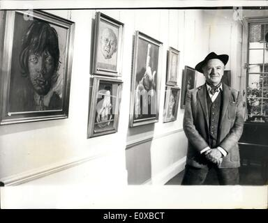 Jan. 26, 1966 - Cecil Beaton's first exhibition of oil paintings: Cecil Beaton, the famous photographer and stage - Stock Photo