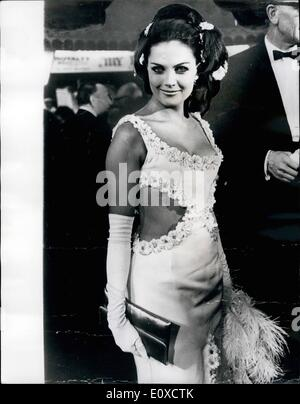 Jun. 06, 1966 - The Porthole Style At Premiere: Just the dress for a heatwave-the porthole style. The wearer is - Stock Photo