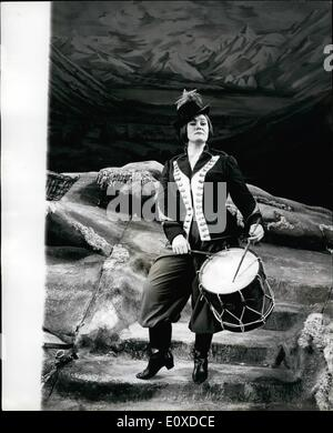 May 05, 1966 - Joan Sutherland to star in new production of the Opera The Daughter of the Regiment : Joan Sutherland - Stock Photo
