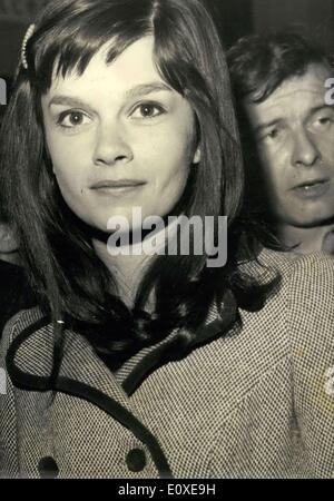 May 11, 1966 - CANNES FILM FESTIVAL: OPS:- THE COMING YOUNG ACTRESS GENEVIEVE BUJOLD, 22, STAR OF THE BANNED FILM - Stock Photo
