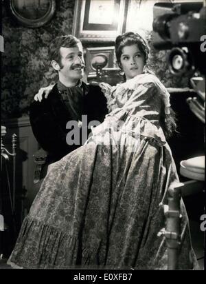 Sep. 05, 1966 - GENEVIEVE BUJOLD CO-STARS WITH JEAN-PAUL BELMONDO IN ''LE VOLEUR'' (THE THIEF): JEAN-PAUL BELMONDO, - Stock Photo