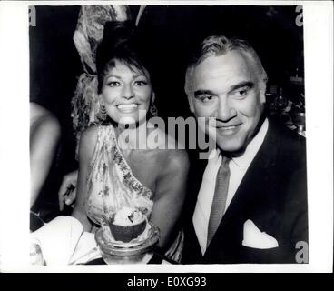 Nov. 13, 1966 - ''Bonanza'' Star and his wife Dine out: Lorne Greene popular star of the T.V.Bonanza series and - Stock Photo