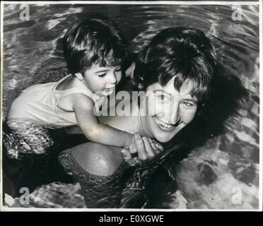 Dec. 12, 1966 - Water Baby-Just Like Mum. Just like mum. that's Dawn Lorraine Ware, who will be one year old this - Stock Photo