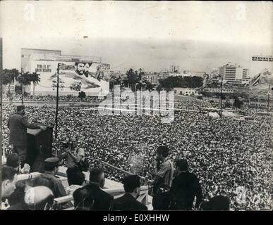 Jan. 01, 1967 - EIGHTH ANNIVERSARY OF CURAN REVOLUTION To commemorate the eighth anniversary of the Cuban Revolutions - Stock Photo