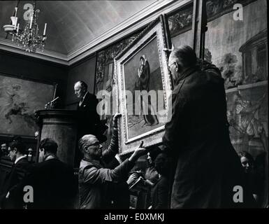 Apr. 04, 1967 - A world record price of £190,000 was paid at Sotheby's in London yesterday, for a painting - Stock Photo