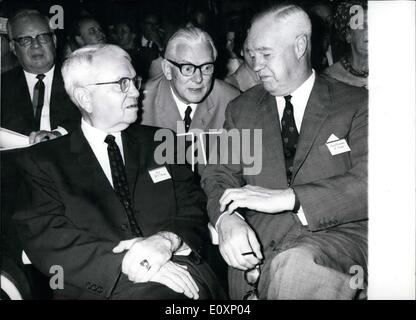 Jul. 04, 1967 - Federal Minister of Research and Education Stoltenberg asks relevant questions on the politics of - Stock Photo
