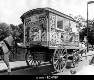 The Romany Caravan Beatle John Lennon has purchased - Stock Photo