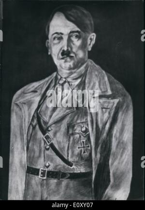 Apr. 04, 1968 - Portrait of Adolf Hitler painted by Josef Bachman, a student from Munich, who attempted to Kill - Stock Photo