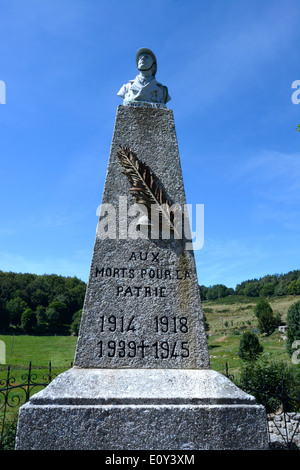 Monument war. Grèzes. Haute-Lore. Auvergne. France - Stock Photo