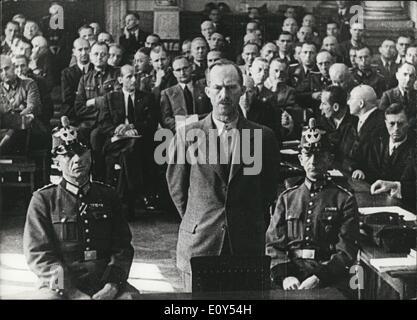 Nov. 11, 1968 - Third Reich. July 20, 1944 - 2. People's Court in Berlin. Pictured: General von Hase, city commander - Stock Photo