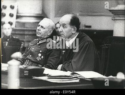 Nov. 11, 1968 - Third Reich. Juy 20, 1944. #2 People's Court in Berlin. Pictured are President of the People's Court, - Stock Photo