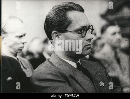 Nov. 11, 1968 - Third Reich. July 20, 1944. 2nd People's Court in Berlin. A listener is pictured during the trial - Stock Photo
