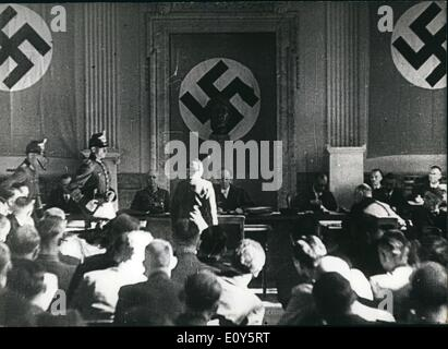 Nov. 15, 1968 - Third Reich. July 20, 1944. #2 People's Court in Berlin. This is a glance into the courtroom in - Stock Photo