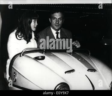 Sep. 09, 1969 - ''Playboy'' Chief - at play: Hugh Hefner, of the famous ''Playboy'' Magazine and Playboy clubs, - Stock Photo