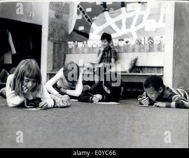 Oct. 27, 1969 - School With Fitted Carpets The new Inner London Education Authority primary school, Prior Weston, - Stock Photo