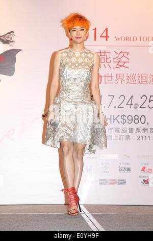 Hong Kong, China. 19th May, 2014. Singer Stefanie Sun attends press conference of her tour concert in Hong Kong, - Stock Photo