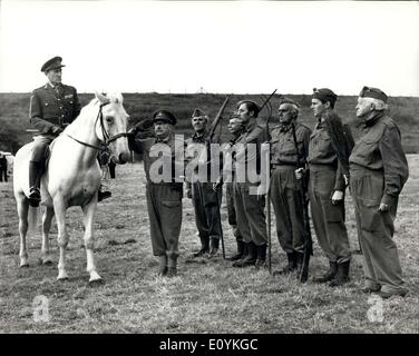 Aug. 20, 1970 - Film Version of ''Dad's Army''. Scenes were being shot today at Shepperton studios for the film - Stock Photo