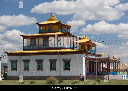 Sockshin-dugan – temple in Ivolginsky Datsan, Verkhnyaya Ivolga, Buryatia, Siberia, Russia - Stock Photo