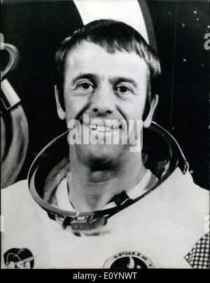 Jan. 01, 1971 - Apollo 14 Astronaut Alan Shepard - Apollo Commander. Photo shows Apollo 14 Commander Alan Shepard, - Stock Photo