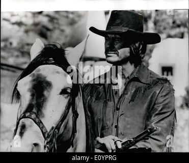 Mar. 03, 1971 - Charles Bronson filming in Spain. American actor Charles Bronson is in Spain making the film '' - Stock Photo