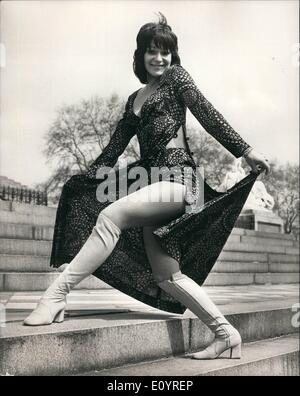 Apr. 04, 1971 - Clothes worn by the young generation.: There was a photocall at the Royal College of Art today, - Stock Photo