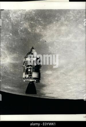 Aug. 08, 1971 - The Apollo 15 Mission gets remarkable pictures; The three American Apollo 15 astronauts, Scott, - Stock Photo