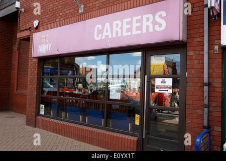british army careers office Preston Lancashire UK - Stock Photo