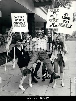 Sep. 09, 1971 - Millionaire publisher of 'Mad' magazine in London – William M.Gaines, has arrived - Stock Photo