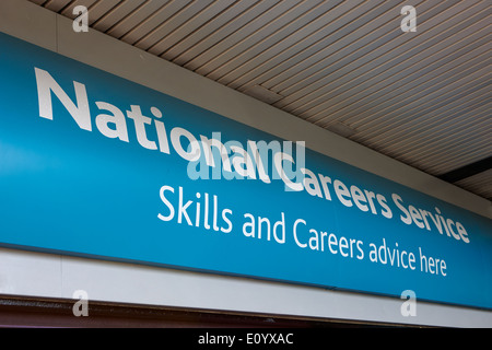 national careers service office Kirkby town centre Merseyside UK - Stock Photo