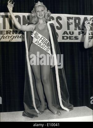 Jan. 01, 1972 - The new ''Miss France 1972'' is Chantal Bouvier Delamonte - Stock Photo
