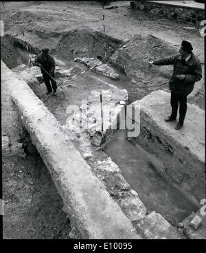 Jan. 01, 1972 - TOMB OF HUNGARIAN NATION'S FIRST RULER BELIEVED FOUND IN WESTERN HUNGRY. Archeologists excavating - Stock Photo