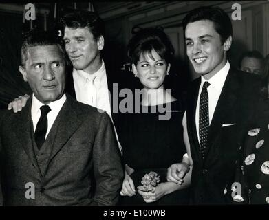 Feb. 02, 1972 - Rome: This afternoon press conference at Excelsior Hotel, of Burt Lancaster the American actor who - Stock Photo