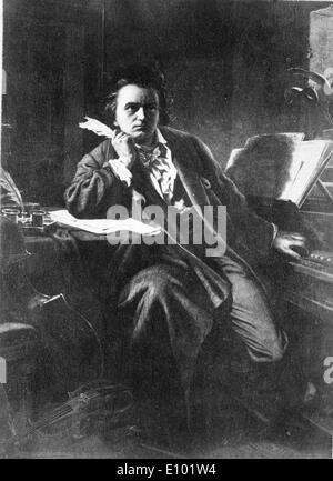 LUDWIG VAN BEETHOVEN was a German composer and pianist. - Stock Photo