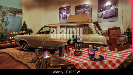 Exhibit in the Pontiac-Oakland Museum in Pontiac, Illinois, a town along Route 66 - Stock Photo