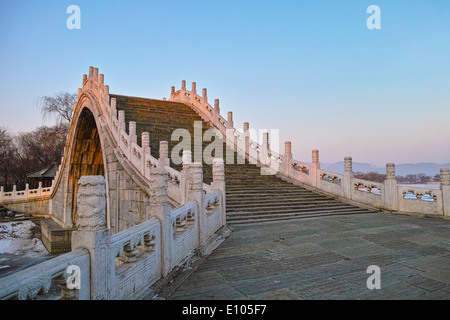 Chinese style arch bridge in Summer Palace - Stock Photo