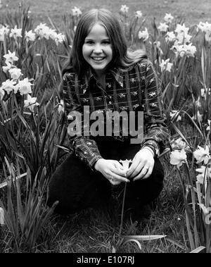 Portrait of Linda Blair in Kensington Gardens - Stock Photo