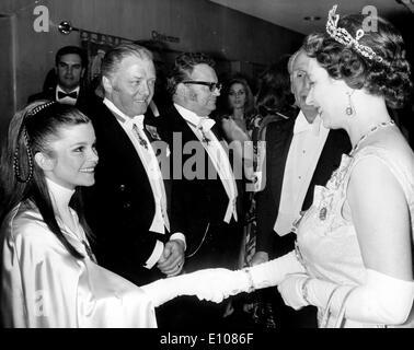 Queen Elizabeth II meets Genevieve Bujold - Stock Photo