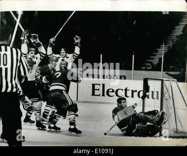 Mar. 03, 1970 - Ice Hockey Championships in Stockholm: The Swedish center ULF Sterner (on right in backgrounds), - Stock Photo