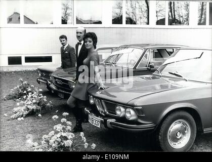 Mar. 19, 1970 - A popular magazine in Europe asked it's readers what the three most beautiful car styles were. The - Stock Photo