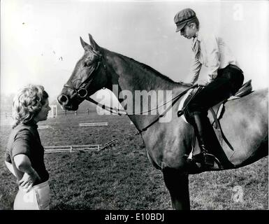 Mar. 03, 1972 - Princess Anne Schooling Her Horses In Preparation For The Tough Season Ahead: Princess Anne, the - Stock Photo