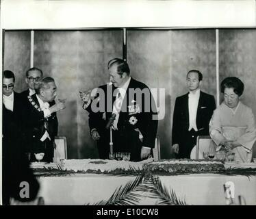 Apr. 04, 1972 - Paraguayan President in Japan: Paraguayan President Alfredo Stroessner on an Official visit to Japan, - Stock Photo